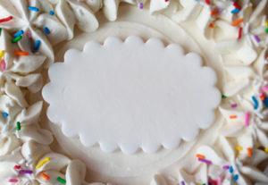 Cake Plaque at Sophie Sucree
