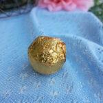 Gold foil Hazelnut Praline Truffle at Sophie Sucree Vegan Bakery in Montreal