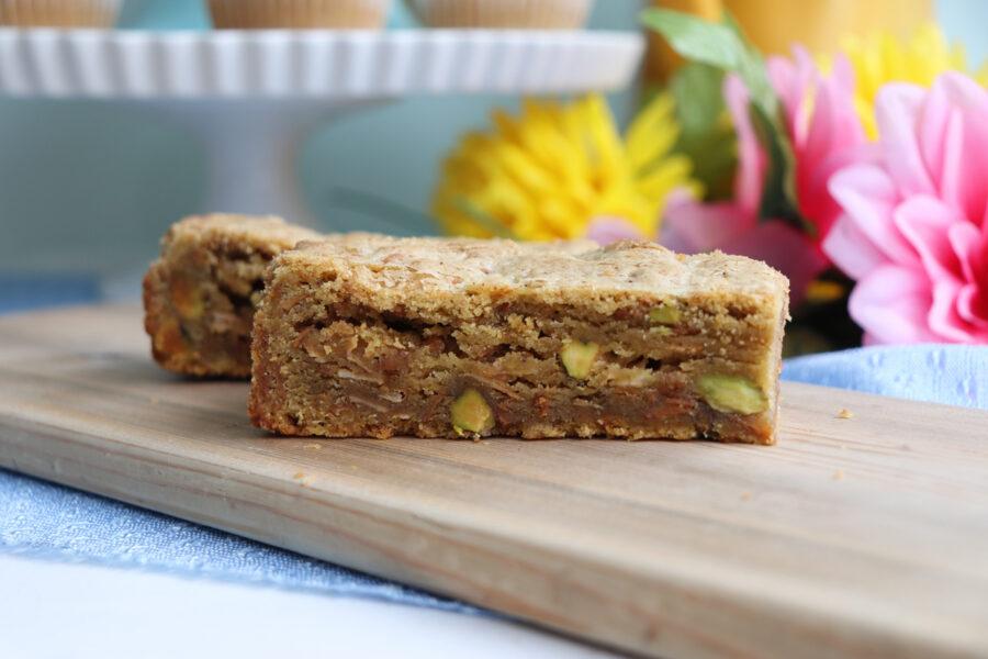 Pistachio Coconut Blondie at Sophie Sucree Vegan Bakery in Montreal