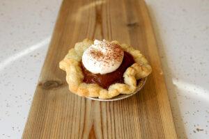 Tartelette à la Citrouille avec Crème Fouettée at Sophie Sucree Vegan Bakery in Montreal